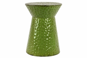 Gorgeous Green Spotted Shinning Metal Stool by Urban Trends Collection