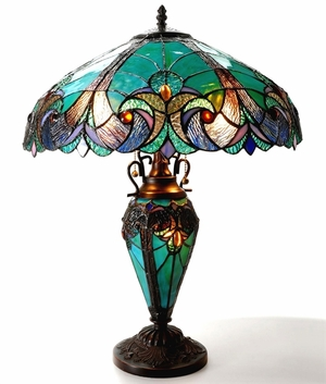 Gorgeous Green Victorian Table Lamp by Chloe Lighting