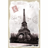 Gorgeous Masterpiece of Eiffel on Linen by Yosemite Home Decor