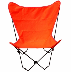 Gorgeous Orange Fabric Foldable Chair by Alogma