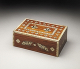 Gorgeous Patna Bone Inlay Storage Box by Butler Specialty