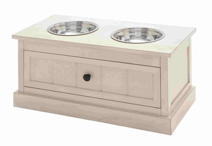 Gorgeous Pet Feeder with Wide Drawer Brand Benzara