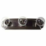 Gorgeous Piece of 3 Light Vanity Lighting in Satin Nickel Finish by Yosemite Home Decor