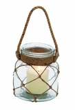 Gorgeous Styled Glass Rope Candle Lantern by Woodland Import