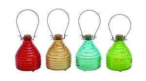 Gorgeous Tibetan Glass Led Candle 4 Assorted by Woodland Import