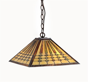 Gorgeous Unique Styled Mission Pendant Lamp by Chloe Lighting