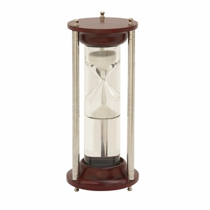 Gorgeous Wood Aluminum Glass Floating Sand Timer