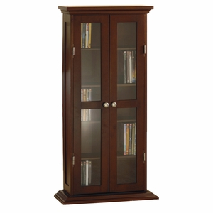 Gorgeous Wooden CD- DVD Cabinet with Glass Doors by Winsome Woods