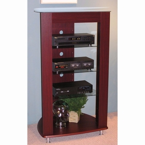 4D Concepts Gorgeous Wooden Cherry Colored Audio Entertainment Stand by 4D Concepts