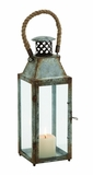 Gorgeously Styled Metal Glass Lantern by Woodland Import