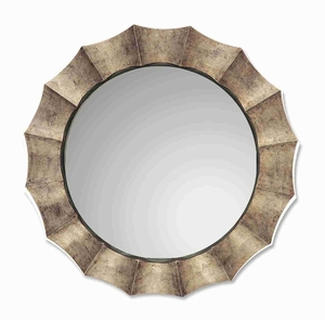 Gotham Antique Wall Mirror with Warm Silver Leaf Finish Brand Uttermost