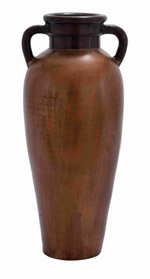 Gourd Shaped Painted Terracotta Vase in Rustic Red Finish Brand Woodland