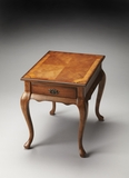 "Grace Olive Ash Burl End Table 21""W by Butler Specialty"
