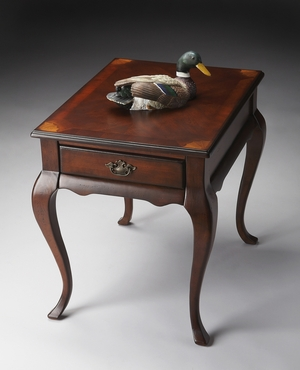"""Grace Plantation Cherry End Table 21""""W by Butler Specialty"""