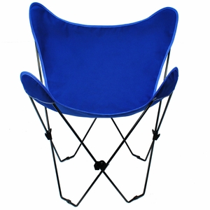 Graceful Royal Blue Colored Replacement Cover for Butterfly Chair by Alogma