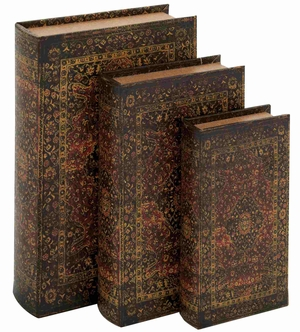 Granada Book Box Exclusively Crafted And Alluring Set Brand Benzara