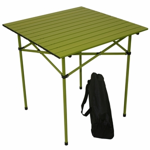Great Tall Aluminum Portable Table in a Bag in Green by TAIB