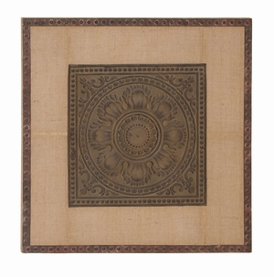 Greek Frame - Greek Inspired Wall Decor With Raised Graphic Brand Woodland
