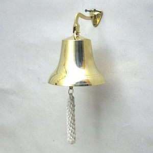 Greek Ship Bell Creatively Etched Riveting Nautical Decor Brand IOTC