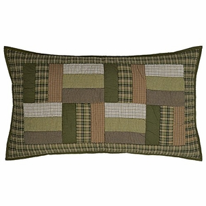 Green and Cool Montgomery Luxury Sham by VHC Brands