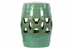 Green attractive Ceramic Comfortable Garden Stool by Urban Trends Collection