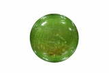 Green Crackled Glass Ball with LED Lights - Small by Alpine Corp