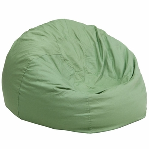 Green Fabric Kids Bean Bag Green - DG-BEAN-LARGE-SOLID-GRN-GG by Flash Furniture