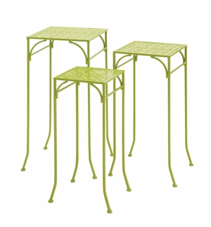 Green Polished Classy Metal Plant Stand by Woodland Import