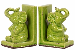 Grenache's Classy Stoneware Elephant Bookend by Urban Trends Collection