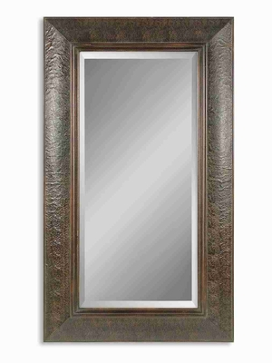 Guenevere Wall Mirror with Mahogany and Embossed Copper Panels Brand Uttermost