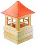 "Guilford Cupola 72"" x 112"" - Cypress Wood and Copper by Good Directions"