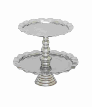 Haarlem Two Tier Decorative Cupcake Stand Brand Benzara