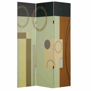 Haily Screen, 3 Panel Canvas Screen, 48 Inch L x 72 Inch H Brand Screen Gems