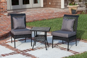 Halden Three-piece Bistro Set, Ultra-trendy Plus Sophisticated Urbane Home Decor by Well Travel Living