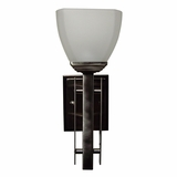 Half Dome Collection Classic Styled 1 Light Wall sconce in Satin Nickel Finish by Yosemite Home Decor