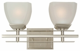 Half Dome Collection Classy Styled 2 Lights Vanity Lighting in Satin Nickel Finish Frame by Yosemite Home Decor