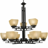 Half Dome Collection Enticing 9 Lights Chandelier in Venetian Bronze by Yosemite Home Decor