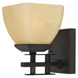 Half Dome Collection Fabulously Styled 1 Light Vanity Lighting in Venetian Bronze by Yosemite Home Decor