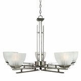 Half Dome Collection Marvelous 5 Lights Chandelier in Satin Nickel Finish by Yosemite Home Decor
