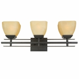 Half Dome Collection Striking 3 Light Vanity Lighting in Venetian Bronze Frame by Yosemite Home Decor