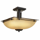 Half Dome Lighting Collection Attractive 2 Lights Semi Flush Mount in Venetian Bronze by Yosemite Home Decor