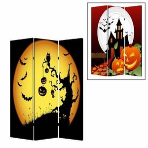Halloween 3 Panel Screen Complementary Images on Canvas Brand Screen Gem