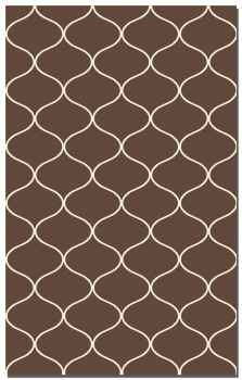 Hamilton Dark Chocolate 5' Woven Wool Rug with Off White Detail Brand Uttermost