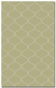 Hamilton Khaki Green 9' Woven Wool Rug with Off White Details Brand Uttermost