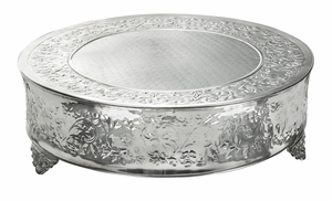 Hampton Wedding Cake Stand, Silver Plated Round Cake Stand, 20 Inch Brand Woodland