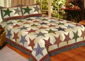 Hand Crafted Nicholas Quilt in Queen Size by American Hometex