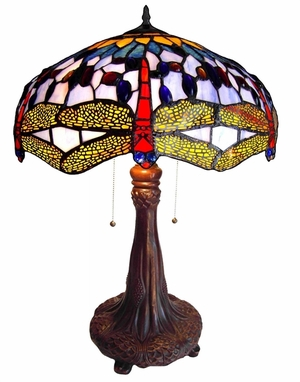 Handcrafted Dragonfly Table Lamp by Chloe Lighting