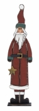 "Handcrafted Wood Santa 29"" Holiday Decor"