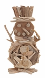 Handcrafted Wood Snowman Holiday Decor