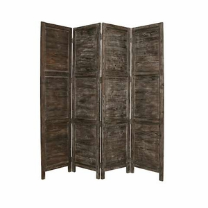 Handmade Nantucket Screen Crafted with Solid Cedar Wood in Black Brand Screen Gem